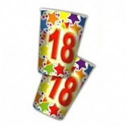 10 Bicchieri Carta 18 Anni 200 ml