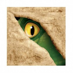 16 Tovaglioli Carta Dinosauri 25x25 cm