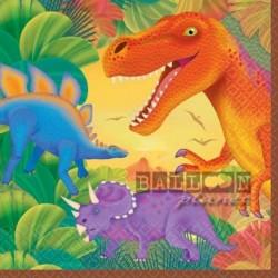 16 Tovaglioli Carta Dinosauri 33x33 cm