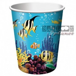 8 Bicchieri Carta Ocean 266 ml