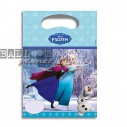 6 Loot Bags Frozen 18x22 cm