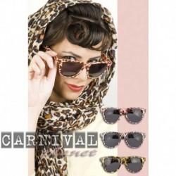 Occhiali Leopardati Montatura Nera