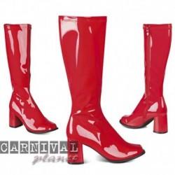 Stivali Similpelle Vernice Rossa