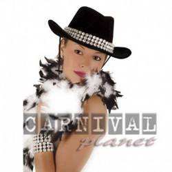 Cappello Cowgirl Strass Argento