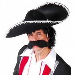 Cappello Sombrero Feltro Nero