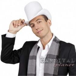 Cappello Cilindro Feltro Bianco