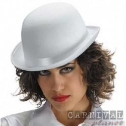 Cappello Bombetta Feltro Bianco