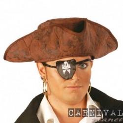 Cappello Pirata Tricorno Marrone