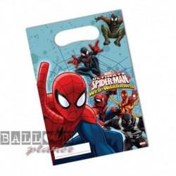 6 Loot Bags Spiderman 18x22 cm