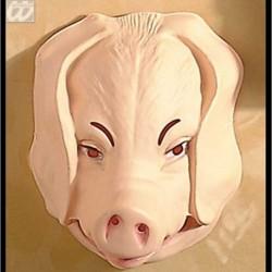 Maschera Plastica Maiale