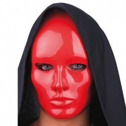 Maschera Plastica Viso Rosso
