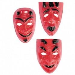 Maschera Plastica Diavolo Rosso