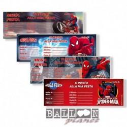15 Inviti Blocchetto Spiderman