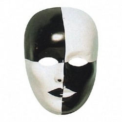 Maschera Plastica Viso Scacchi