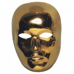 Maschera Plastica Viso Oro