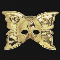 Maschera Plastica Farfalla Oro