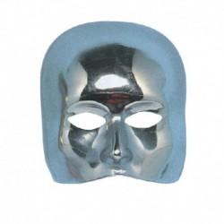 Maschera Plastica Mezzo Viso Silver