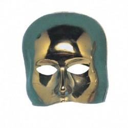 Maschera Plastica Mezzo Viso Gold
