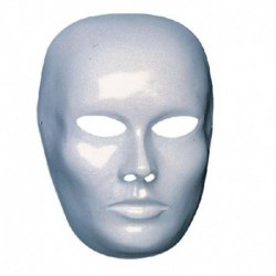 Maschera Plastica Viso Bianco