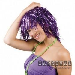 Parrucca Caschetto Purple Metallizzato