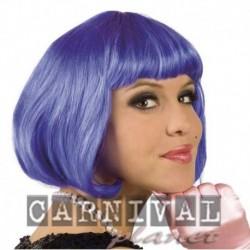 Parrucca Caschetto Blu