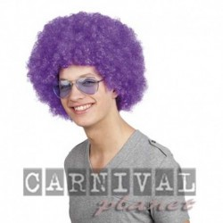 Parrucca Afro Purple