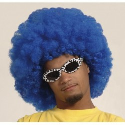 Parrucca Afro Blue