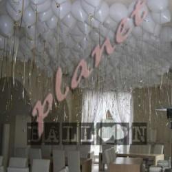 Decorazione palloncini a soffitto