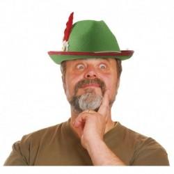 Cappello Tirolese Verde Piuma Rossa