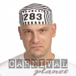 Cappello Carcerato Bianco Nero
