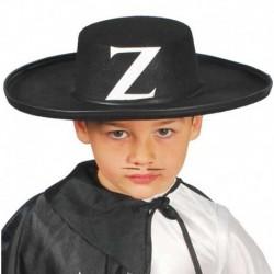 Cappello Zorro Bambino Nero