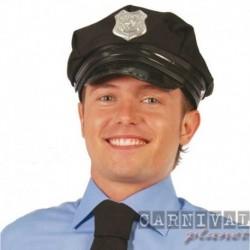 Cappello Poliziotto Tessuto Nero