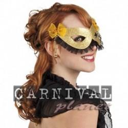 Maschera Tessuto Party Oro