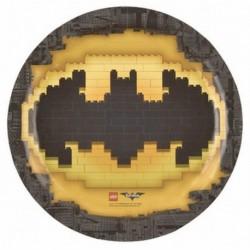8 Piatti Tondi Carta Lego Batman 23 cm