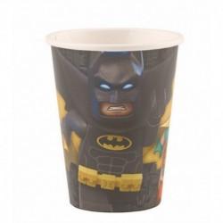 8 Bicchieri Plastica Lego Batman 200 ml