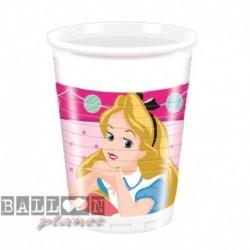 8 Bicchieri Plastica Alice 200 ml
