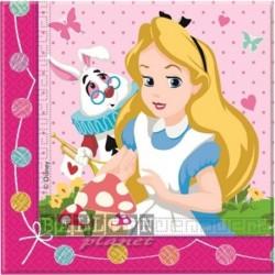 20 Tovaglioli Carta Alice 33x33 cm
