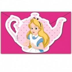 6 Inviti e Buste Alice