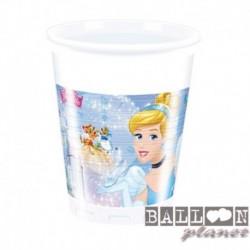 8 Bicchieri Plastica Cinderella 200 ml