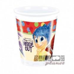 8 Bicchieri Plastica Inside Out 200 ml