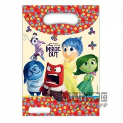 6 Loot Bags Inside Out 18x23 cm
