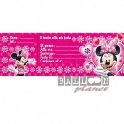 20 Inviti Blocchetto Minnie