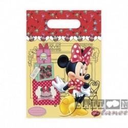 6 Loot Bags Minnie 18x22 cm