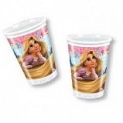 8 Bicchieri Plastica Rapunzel 200 ml