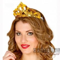 Corona Diadema Oro Full Paillettes