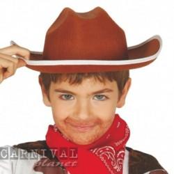 Cappello Cowboy Feltro Marrone
