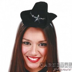 Cerchietto Cowgirl Cappello Nero