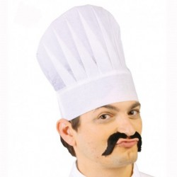 Cappello Cuoco Tessuto Bianco