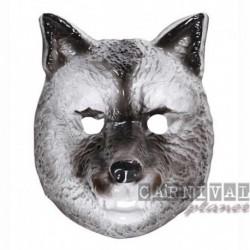 Maschera Plastica Lupo Grigio