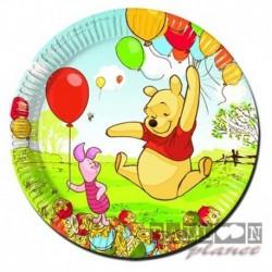 10 Piatti Carta Winnie Pooh 20 cm